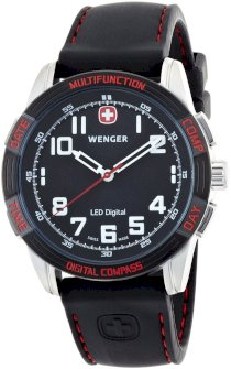 Wenger Men's Nomad LED Compass Swiss Watch 70430