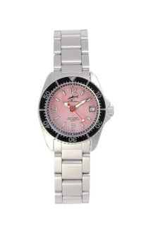 Chris Benz One Lady Pink - Black MB Wristwatch for Her Diving Watch