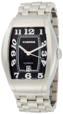 K&Bros Men's 9358-1 Steel Automatic Bold Watch 10ATM