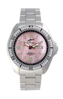 Chris Benz One Man 200m Pink - Silver MB Wristwatch for Him Diving Watch