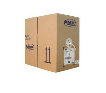 AMP Category 5e UTP Cable, 4-Pair, 24AWG, Solid, CM, 305m, White