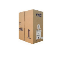 AMP Category 5 UTP Cable, 25-Pairs, 24AWG, Solid, CMR, 305m, White