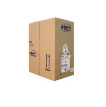 AMP Category 5e FTP Cable (4-Pairs, 24AWG, Solid, PVC, White)
