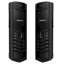 Vertu Signature Black Ceramic Black Leather