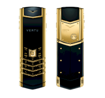 Vertu Signature Yellow Gold Black Ceramic Black Leather
