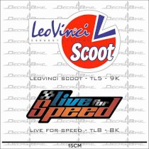 Decal xe máy Leovinciscoot+Liveforspeed