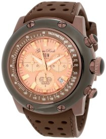 Glam Rock Men's GK1126 Race Track Chronograph Salmon Dial Brown Silicone Watch