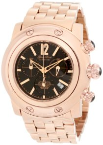 Glam Rock Men's GK1118 Miami Chronograph Black Dial Rose Gold Ion-Plated Stainless Steel Watch