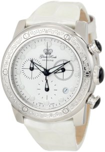 Glam Rock Women's GR50136D Aqua Rock Diamond Accented Chronograph White Dial White Patent Leather Watch