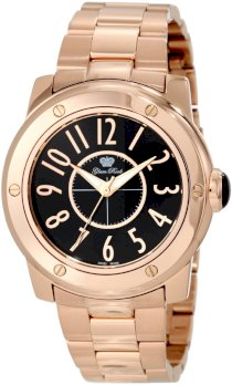 Glam Rock Women's GR50006-NV Aqua Rock Black Dial Rose Gold Ion-Plated Stainless Steel Watch