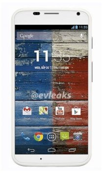 Motorola Moto X XT1058 16GB White front Ebony Finish back for AT&T