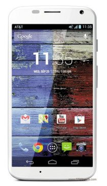Motorola Moto X XT1058 16GB White front Crimson back for AT&T