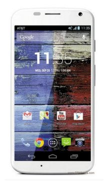 Motorola Moto X XT1058 32GB White front Bamboo back for AT&T