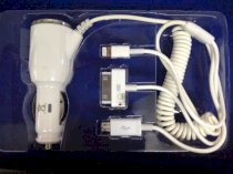 Sạc xe hơi 4 in 1 car charger multi cable adapter