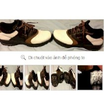 Mens Nike Golf with Cleats Shoes Brown/White/Black,