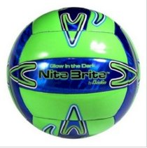 Ball Nite Brite Official Size 5 Cushioned Glow-in-the-Dark Volleyball Baden New