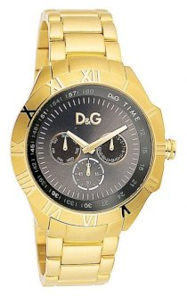Dolce and Gabbana Men's Gold-Tone Watch with Day/Date DW0653