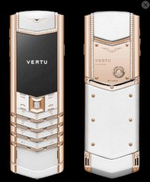 Vertu Signature S Pure White Red Gold Diamond