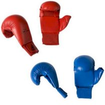 New Adidas Men Training WKF Karate Mitts Boxing Sparring Gloves with Thumb