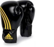 Adidas Tactic Boxing Gloves Black/Yellow Size 8 - 16