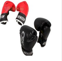 New CSK Kids Child Training Boxing Sparring Gloves Unisize GX9109 Red/Black