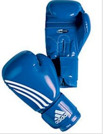 Adidas 'Shadow' Boxing Gloves Blue 10oz Training Punching Bag Sparring Glove New