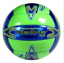 Baden Nite Brite Official Size 5 Cushioned Glow-in-the-Dark Volleyball New