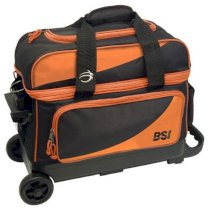 BSI 2 Ball Roller Bag - Black/Orange