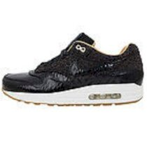 Nike Air Max 1 FB Woven WVN Black Gold Leopard 2013 Mens Running Shoes NSW 90
