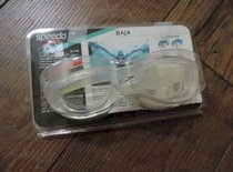 Speedo Baja Goggles Clear Over Size Comfort Soft flexible one piece frame