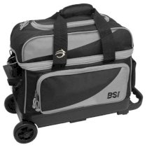 BSI 2 Ball Roller Bag - Black/Grey