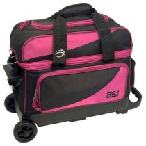 BSI 2 Ball Roller Bag - Black/Pink