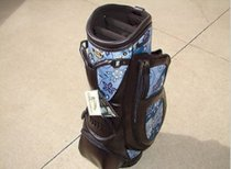 New Burton Ladies Golf Bag Milano Dark Brown/Blue Print Cart Golf Bag HeadCovers