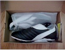 Diadora Soccer Cleats Men's Size 10 USA New Style Calcio MD Black White Silver