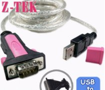 Z-TEK ZE536 - Dây USB to RS232/Parallel (USB to com)