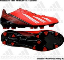 "Adidas Soccer Cleats ""F50 adiZero TRX FG Synthetic""(8.5)Infrared/Whit/Blk Q33848"