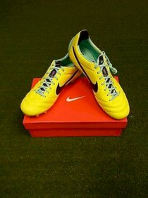 Nike Tiempo Legend IV FG Soccer Shoes New Authentic Volt Kangaroo Leather ACC