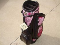 New Burton Ladies Golf Bag Milano Dark Brown/Pink Print Cart Golf Bag FREECovers
