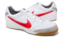Nike Tiempo Mystic IV IC Men's Indoor Soccer Shoe (454333-160-B) WHT/RED/SLV