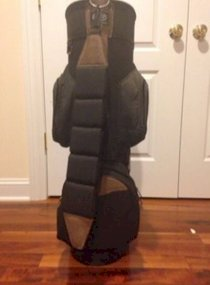 Nice Used Burton Golf Bag Black And Brown Color 6 Top Compartments Many Pockets