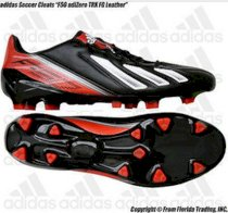 "Adidas Men's Soccer Cleats ""F50 adiZero TRX FG Leather""(11)Black/Infrared Q33846"