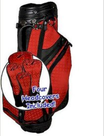 New Burton Golf Ladies Siena Cart Bag Black Red Womens