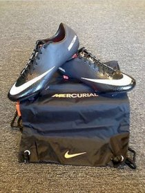 Nike Mercurial Vapor IX FG New Authentic Soccer Cleats Stealth Pack Black