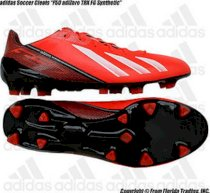 "Adidas Soccer Cleats ""F50 adiZero TRX FG Synthetic""(7.5)Infrared/White/Bk Q33848"