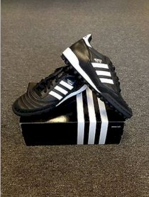 Adidas Mundial Team Turf Shoes Soccer Authentic New Black/White Kangaroo Leather