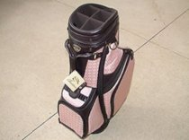 New Burton Ladies Golf Bag Siena Brown/Pink Cart Golf Bag 4 Free Head Covers