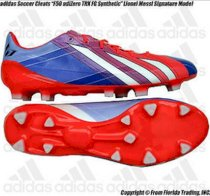 "Adidas Soccer Cleats ""F50 adiZero TRX FG Messi Synthetic""(11)Turbo/Bk/Wht Q33851"