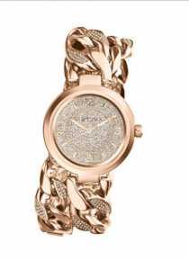 Michael Kors Mid-Size Rose Golden Ellie Three-Hand Glitz 38mm