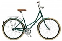 Critical Cycles Step-Thru Urban Commuter Bicycle  British Racing Green Single Speed