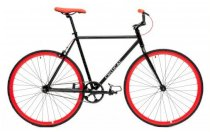 Critical Cycles Fixed-Gear Single-Speed Bicycle - Black  Red
